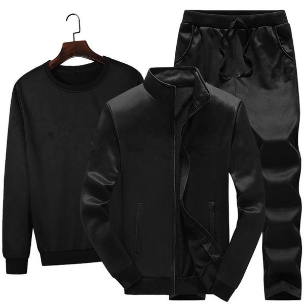 Marka Tasarımcısı ERKEKLER 3 parça set eşofman ceket hoodie pantolon jogging yapan takım elbise ceket kazak pantolon kıyafetler eşofman spor suit kış giysileri 66