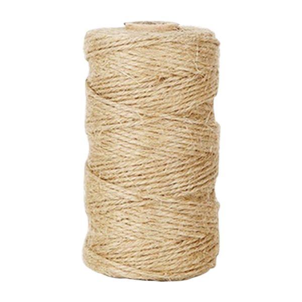Corda naturale per corde durevoli 100mm / rotolo fai-da-te Best Arts Lights Corda per applicazioni di giardinaggio Craft iuta