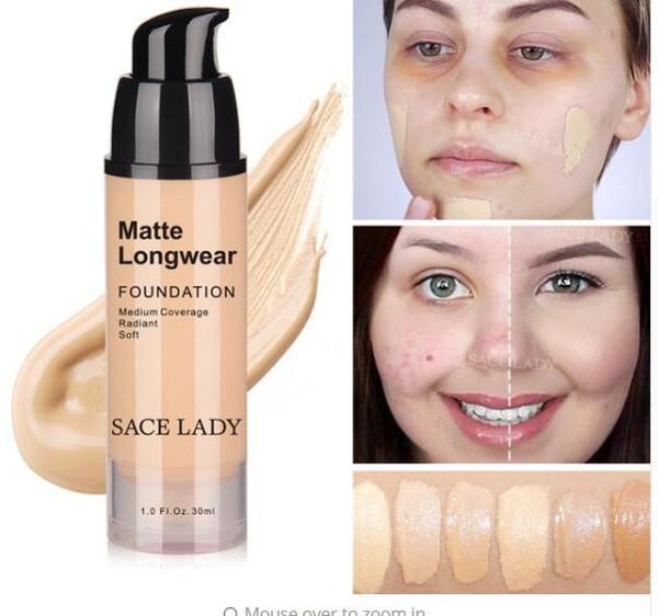 Face Foundation Makeup Professional Base Make Up For Dark Skin Matte Cream Oil Control Liquid Natural Cosmetic