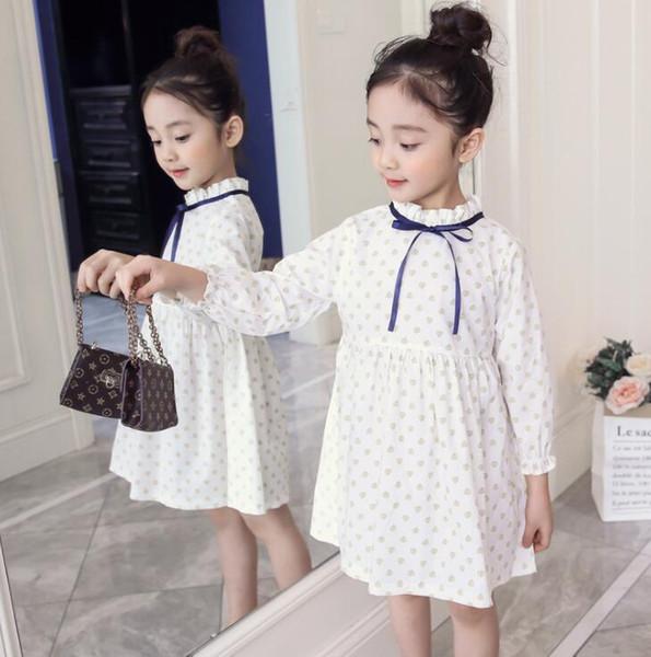 New Girls Longuette algodón Flores rotas Vestidos Vestidos de fiesta Vestidos de verano Princesa mejor calidad 4-21 lw28