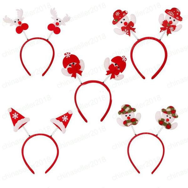 Bebê Papai Noel Headband Meninas Natal bonecos de cabelo elk Hairk bowknot chapéu de Natal Headwear Xmas Hairband Crianças Acessórios Para o Cabelo