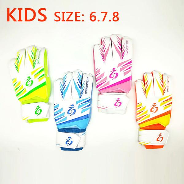 Sports Boys Kids Soccer Gloves for Children Soccer Goalkeeper Gloves Training Football Goalkeeper Kids Gloves Game Protect Fingers