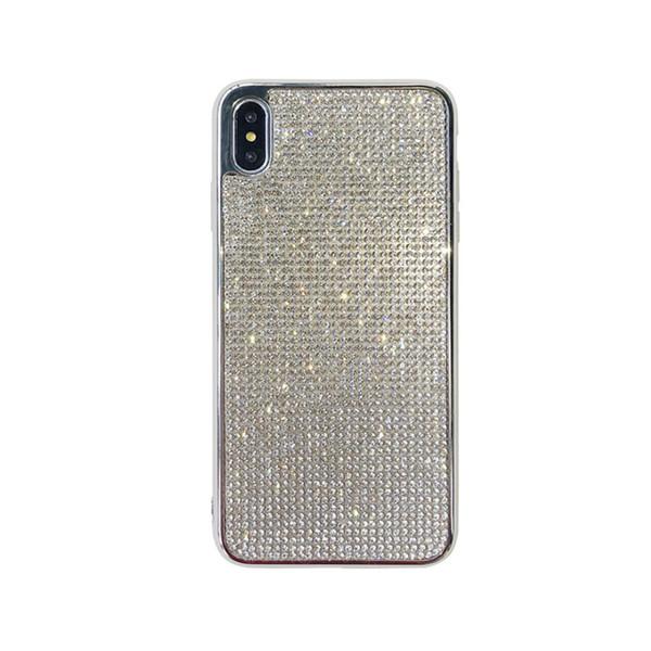 Web celebrity mobile phone case iphoneXs creative full diamond plating edge fashion tpu mobile phone case