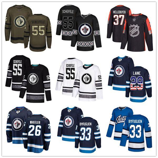top popular Custom Winnipeg Jets Jersey Laine Hellebuyck Mark Scheifele Dustin Byfuglien Nikolaj Ehlers Perreault Wheeler USA Fashion hockey jerseys 2019