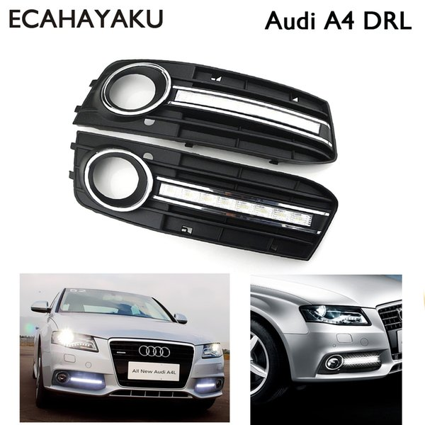 Ecahayaku Car Styling For Audi A4 2009 2010 2011 2012 Led Drl Daytime Driving Running Lights Daylight Fog Lamp Cover Hole Daytime Running Lights For