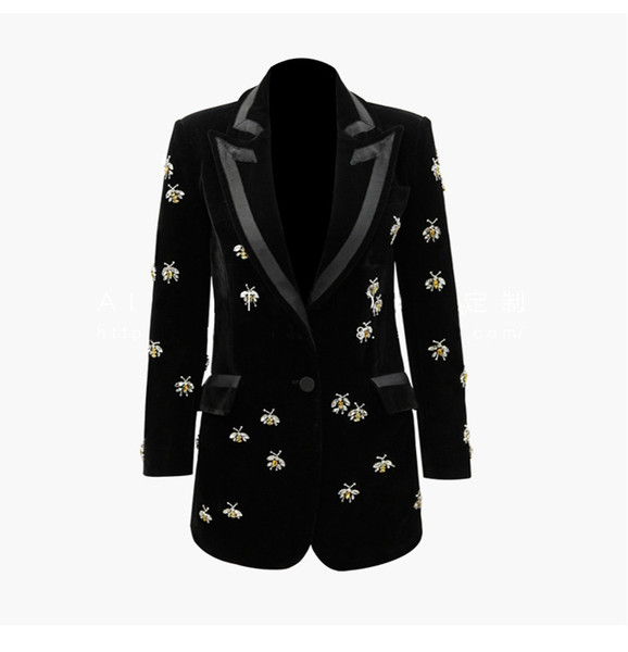 504 XXXL 2019 лето Марка же стиль пальто с длинным рукавом V шеи кнопка твердые блейзеры роскошные Женская одежда SANMUSEN