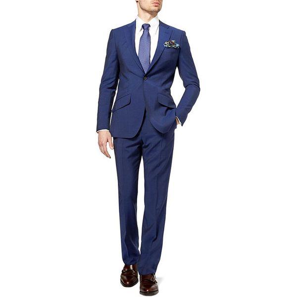 New Mens Suits Groomsmen Notch Lapel Groom Tuxedos terno masculino terno Navy Blue Wedding Best Men Suit (Jacket+Pants+Tie)