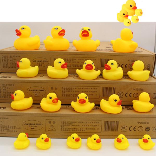 Baby Bath Water Toy toys Sounds Yellow Rubber Ducks Kids Bathe Children Swimming Beach Gifts Gear Baby Kids Bath Water Toy 0601035