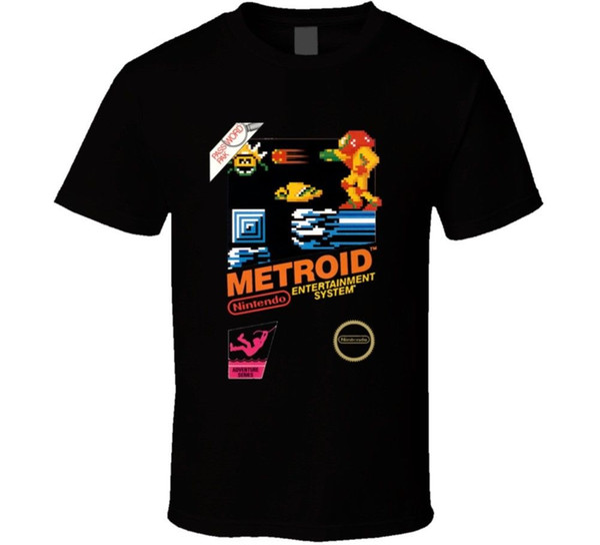 Metroid Nes Box Art Retro Video Game T Shirt