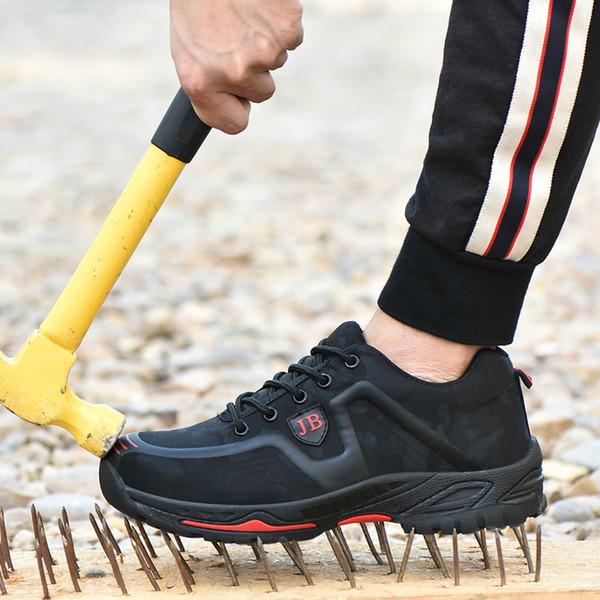 2019 Обувь New Пара Работа безопасности Мужчины Строительство Стальной подносок Anti-разбив Открытый кроссовки женские Полуботинки повседневные