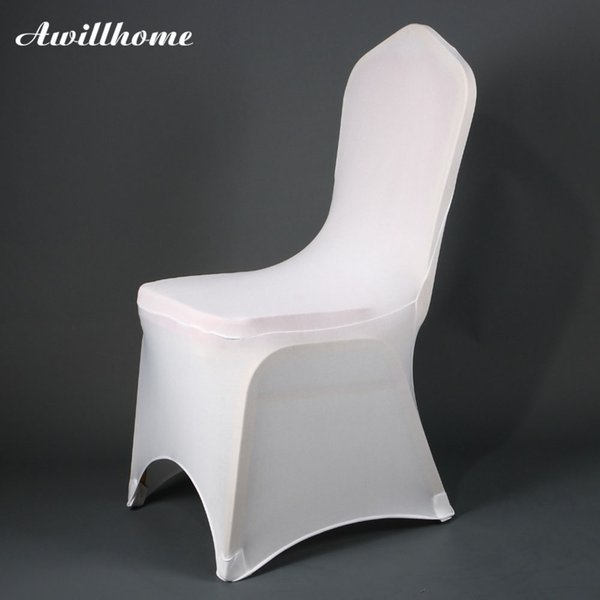 Outstanding Awillhome Good Quality White Spandex Stretch Chair Covers For Event Party Wedding Chair Cover Buy Wedding Chair Covers Folding Chair Covers Rental Pabps2019 Chair Design Images Pabps2019Com