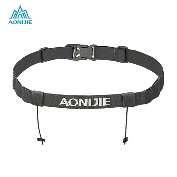 AONIJIE Running Waist Belt Triathlon Marathon Race Number Belt with Gel Holder Running Cloth Camping Hiking Outdoor #310484