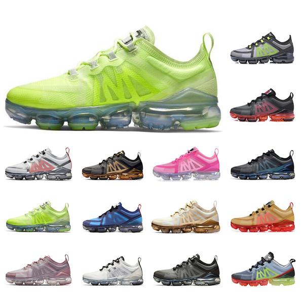 nike air vapormax  мужские кроссовки 2019 новый прибыл зеленый черный белый розовый дышать мужчины женщины кроссовки спортивные ходьба спортивные кроссовки размер 36-45