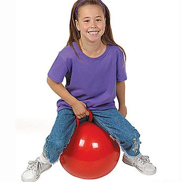 44cm 풍선 호퍼 공 (홉 공, 경비원, 앉아 반송, 공 점프) 어린이 장난감 (파란색 노란색 빨간색)