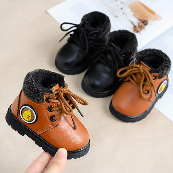Snow Boots Kids,Infant Toddler Baby Girls Boys Kids Winter Anti-Slip Thick Leather Shoes