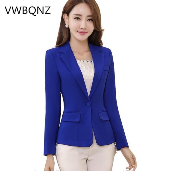Autumn Slim Short Blazers Jackets Plus size 4XL For Women Casual Office Business Ladies Coats Solid Black White Suit Jackets #408411