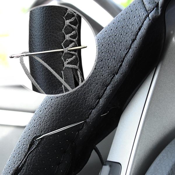 Сделай сам Чехлы на руль автомобиля Мягкая кожаная оплетка для astra j 307 e46 kia cerato teana seat ibiza