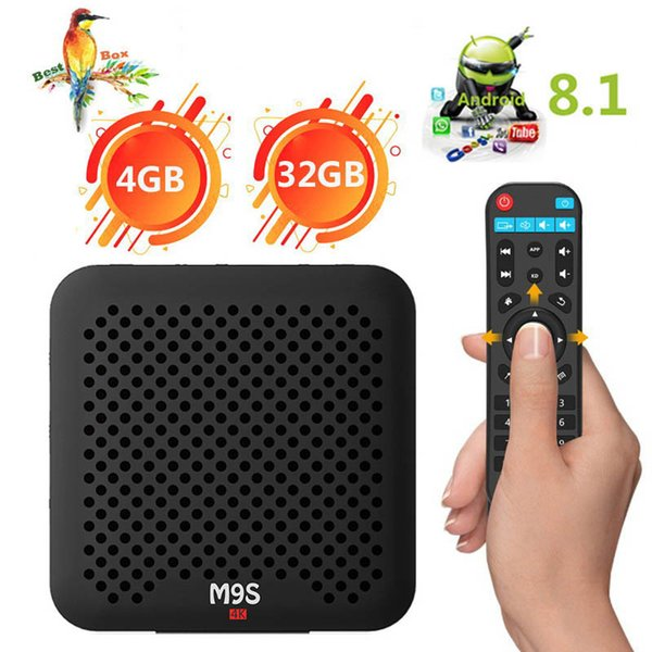 Android 8.1 tv box 4GB 32GB M9S J2 RK3328 QUAD core Android 8.1 smart media box Bluetooth4.0 Google TV Digital Display IPTV BOX Media Player