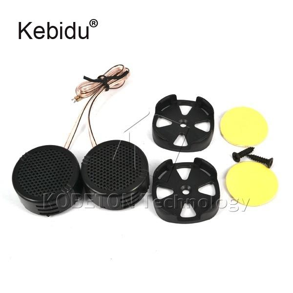 kebidu 2PCS/Lot High Efficiency 2x 500W Car Mini Dome Tweeter Loudspeaker Loud Speaker Universal Super Power Audio for Car