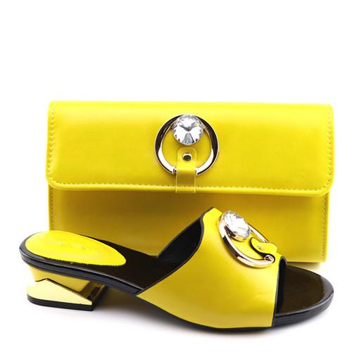 Matching Italian Shoe and Bag Set African women Shoes and Bags Italian In Women Nigerian Royal Shoes for Party W8