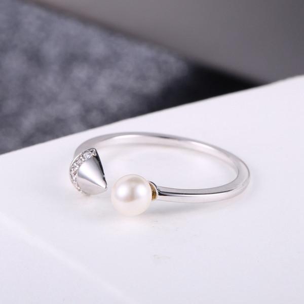 Moda creativa Arrowhead perla anello aperto