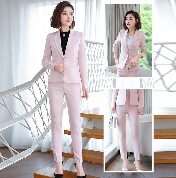 costume pantalon rose