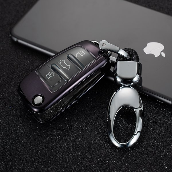 Patent TPU Car Auto Remote Key Case Cover Shell for Audi A1A3 A4 A5 Q7 A6 C5 C6 Car Accessories Styling