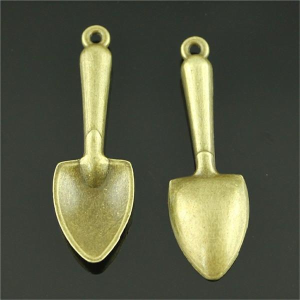 50pcs Charm Shovel Tool Vintage Shovel Charms Pendant For Jewelry Making Antique Bronze Color Shovel Charms 51mm