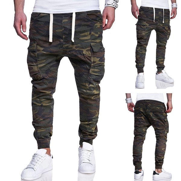 Mens Designer Jogger Camouflage Pencil Pants Pockets Design Casual Trousers Sweatpants