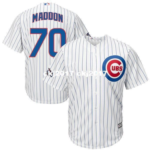 Недорогие мужские Джо Maddon # 70 Белый 2016 Специальные ставки высокого качества Джерси бейсбола