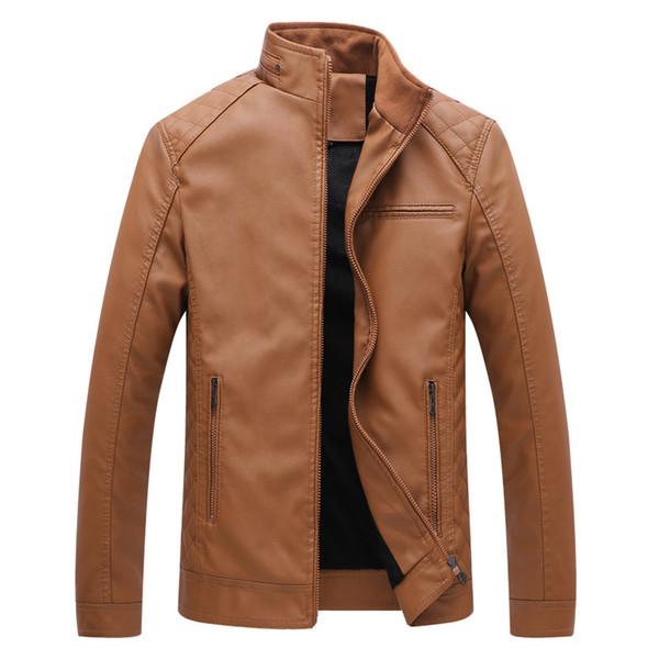 Diseñador para hombre PU chaquetas de cuero para hombre abrigos de piel sintética Grueso caliente chaquetas de alta calidad delgado Casual Streetwear Vintage para hombre abrigo tamaño L-6XL