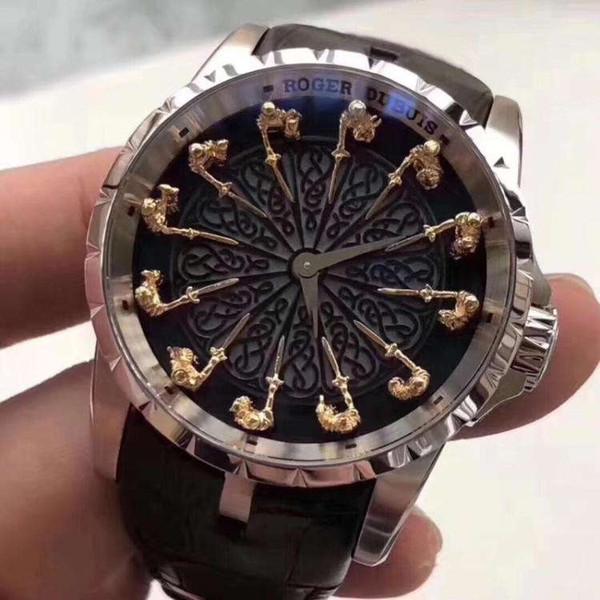 Hot Brand Men Watches EXCALIBUR RDDBEX0495 Montre Homme Watch Men Relogios Leather belt Dress Business Male Clock Best Gift