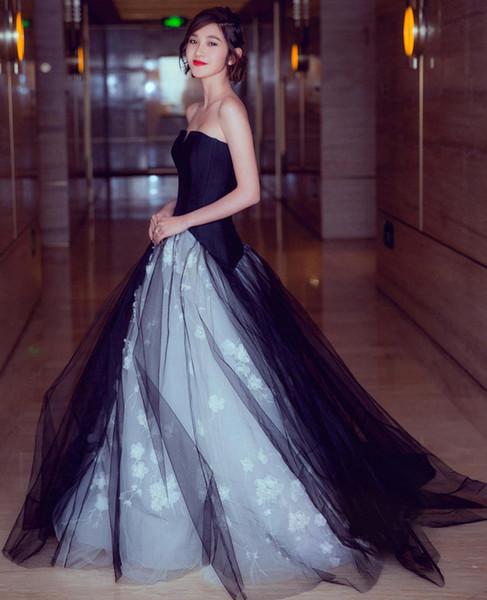 2019 Sexy black Prom Dresses elegant type bra Angel high-end atmosphere black dinner perform Princess Dress