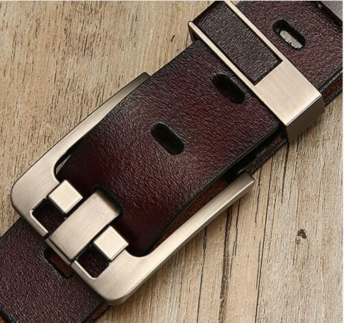 male leather belt men male genuine leather strap luxury pin buckle belts for men Belt Cummerbunds ceinture homme