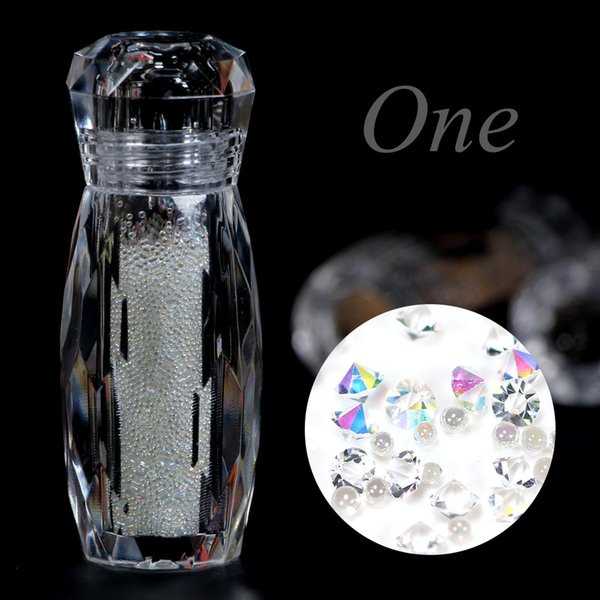 hinestones & Decorations Crystal Caviar Beads Manicure diamonds for Nails 3D Decoration Micro Diamonds Glitter Balls Stones for Nails...