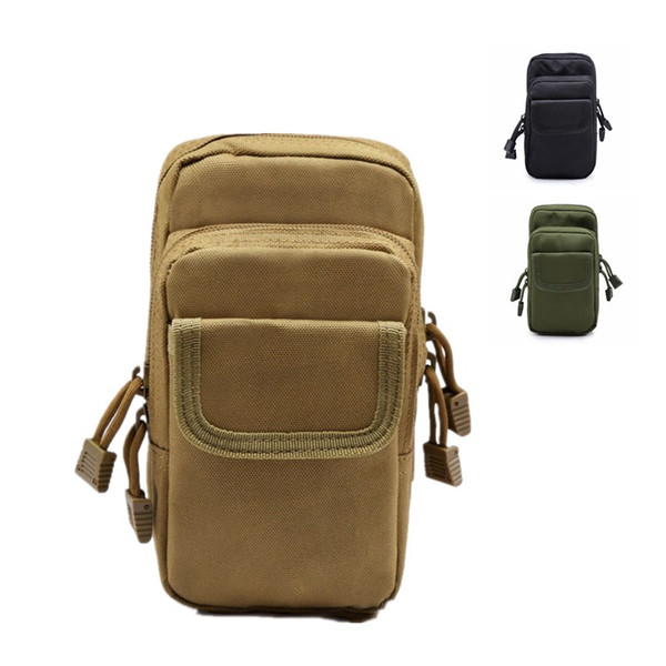 Multi-functional tactical outdoor sports mobile phone pockets field kit bag mini accessory bag riding climbing mountain bag free shipping