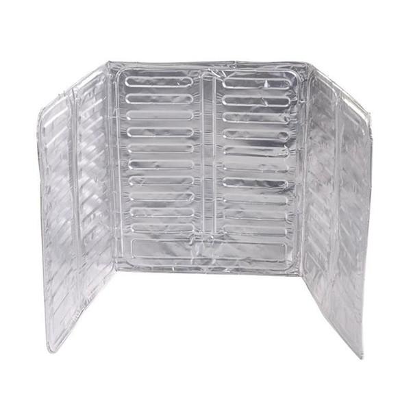 Wall Oil Splash Guard Aluminum Foil Gas Stove Shield Oil Splatter Screen Kitchen Tool Cooking Insulate Splash Proof Baffle Latest Kitchen Gadgets