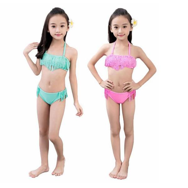 Toddler Kids Girl Floral Split Tankini Swimwear Swimsuit Swimming Costume 1-6Yrs