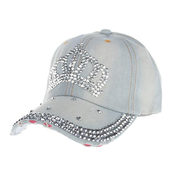 High Quality Hip-Hop Baseball Cap Full Diamond Crown Flat Snapback Hat Extravagant Diamond studded Fashion cowboy Caps #3