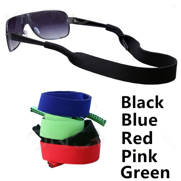 top popular Neoprene Sport Sunglasses Glasses Neck Cord Retainer Strap Comfortable Fexible Rope Eyewear Holder Eyeglasses Cable Strap Universal Fit 2019