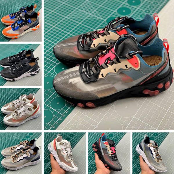 Elemanı tepki 87 Gizli Koşu Ayakkabı Yelken Işık Kemik Mavi Chill Güneş Antrasit Siyah Tasarımcı Spor Sneakers Boyutu 36-45