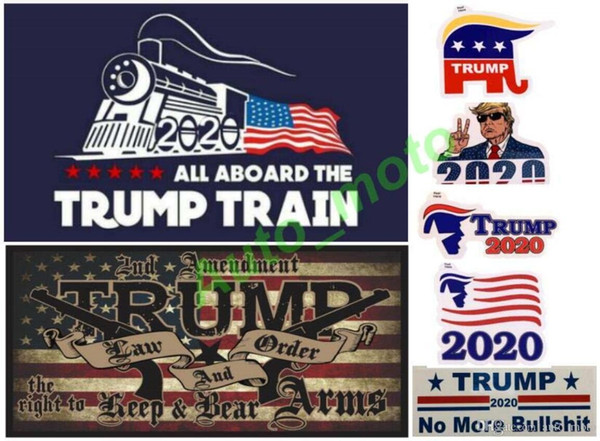 best selling free shipping 18 types New Styles Donald Trump 2020 Car Stickers train Sticker Keep Make America Great Decal for Car Styling Vehicle Paster