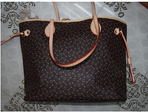 prix de gros vente femmes de style de la mode NEVERFULLS fourre-tout sac à main en cuir véritable avec sac à bandoulière shopping sac à main