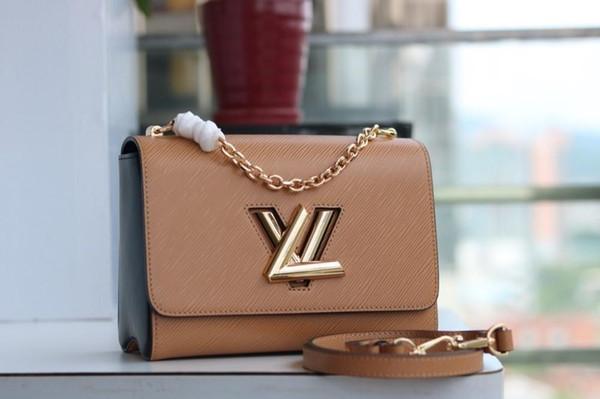 Lady Paketi Kadın S Omuz Çantası Kız Moda Aksesuarları 2019 Yeni Ürünler Muhteşem Zarif Deri Ve Metal Aksesuarları 23 * 18 * 8 cm B