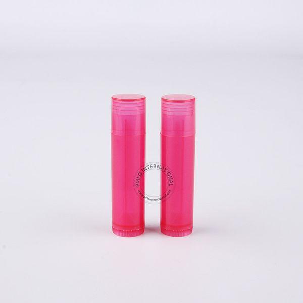 Wholesale Makeup Tool For Women 100 x 5gram Plastic Lip Balm Tube Red Lipstick Bottle 5cc Lip Balm Stick Packaging Free Shipping