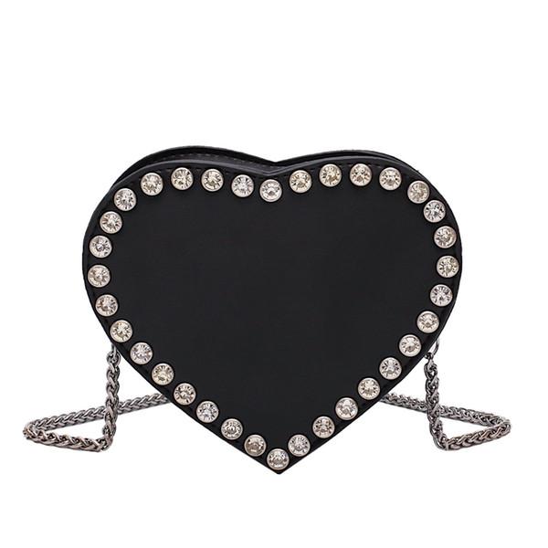 2019 British fashion simple heart bag women's designer handbag high quality large handbag PU leather shoulder bag qq410