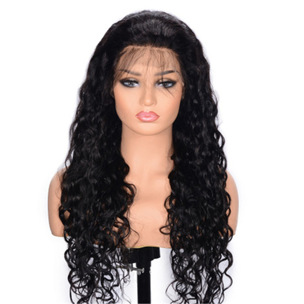 Brazilian Natural Wavy Human Hair Full Lace Wigs with Baby Hair for Women Pre Plucked Long Lace Front Wigs Ping
