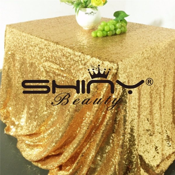 90*156inch(225*390cm) Gold/rose Gold/silver/pink/royal Blue Sequin Tablecloth Rectangle Glitter Table Cover For Party/wedding/ T8190620