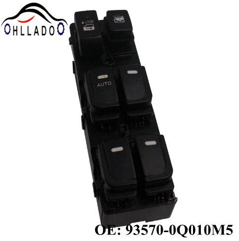 best selling HLLADO High Quality 93570-0Q010M5 New Master Power Window Switch Lifter Control Switch 935700Q010M5 for H yundai E lantra
