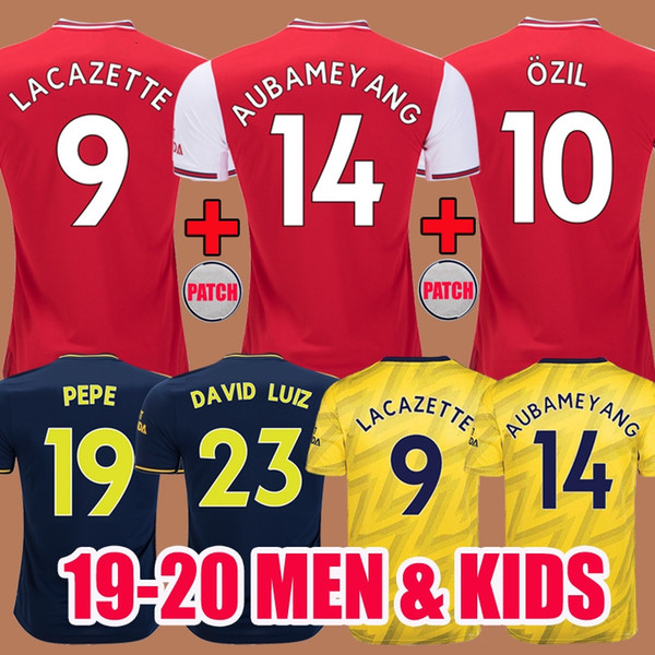 2019 2020 Arsenal Soccer Jersey Kids Home Away Third Pepe 19 20 Camisas de futebol LACAZETTE TORREIRA AUBAMEYANG HENRY maglia da calcio UOMO Bambini Maglie Calcio